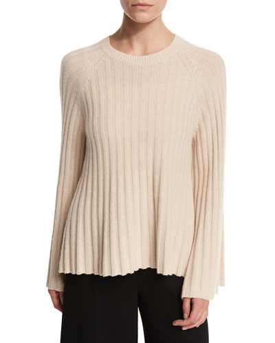 Baker Ribbed Crewneck Pullover Sweater