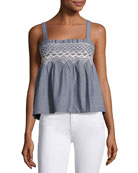 The Smocked Tank, Indigo