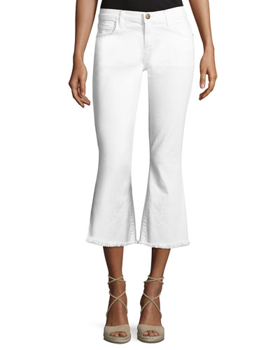 The Cropped Flip Flop Jeans, White