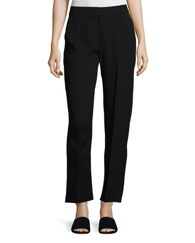Relaxed Stretch Lounge Pants, Black