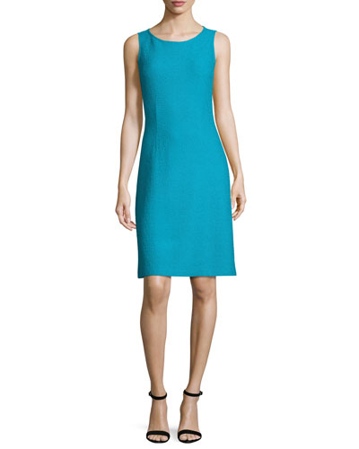 Clair Knit Bateau-Neck Dress, Blue