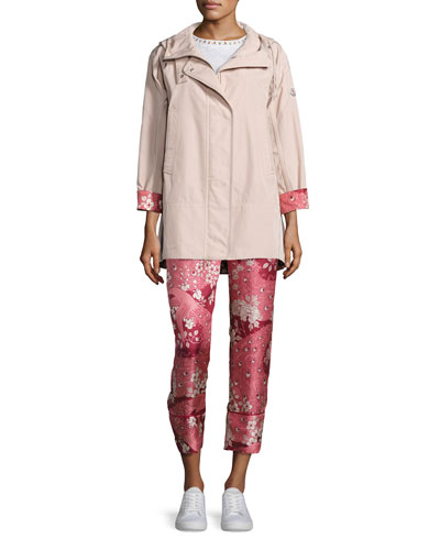 Pulsatille Hooded Canvas Jacket, Blush