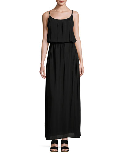 Bridgehampton Coverup Maxi Dress, Black