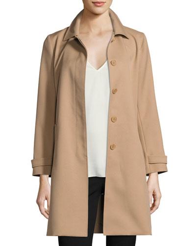 Dafina Prospective Single-Breasted Car Coat, Palomino (Brown)