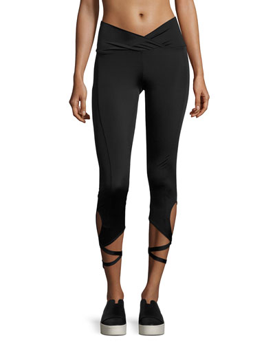 Ballerina Capri Performance Leggings, Black