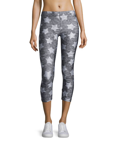 Heathered Star Capri Leggings