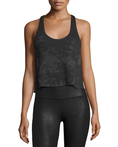 Step Tank Racerback Top, Charcoal