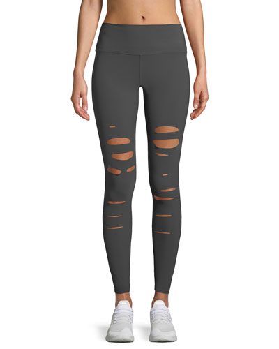 Ripped Warrior Performance Leggings, Black
