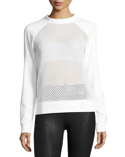 Elemental Mesh Sweatshirt, White