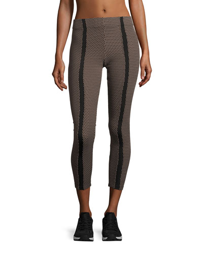 Power High-Rise Honeycomb Leggings, Multicolor