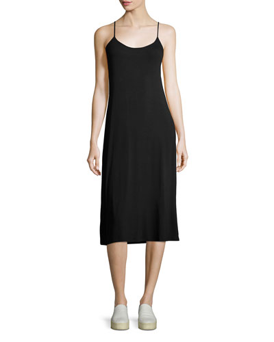 Soft-Touch Cami Dress, Black