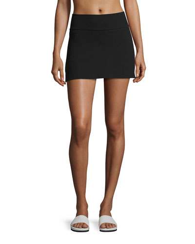 x kate spade new york side-slit high-rise performance skirt