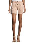 Cmira High-Rise Slim-Fit Shorts, Makeup