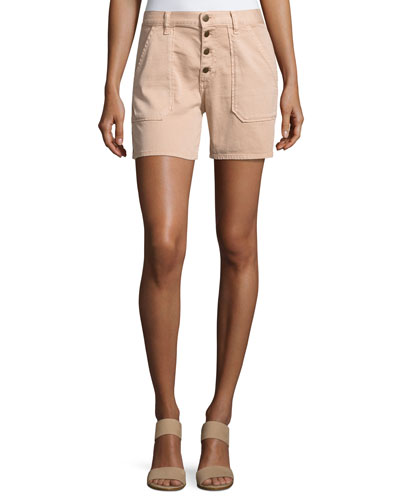 Cmira High-Rise Slim-Fit Shorts, Makeup