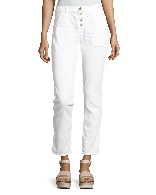 ba & sh Cmarc High-Rise Pants, White