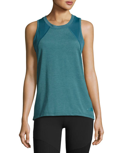 Reactor Mesh-Panel Tank Top, Turquoise