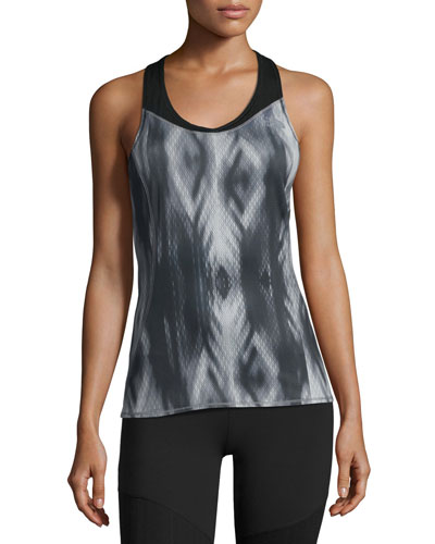 Runagade Mesh Tank Top, Black Pattern