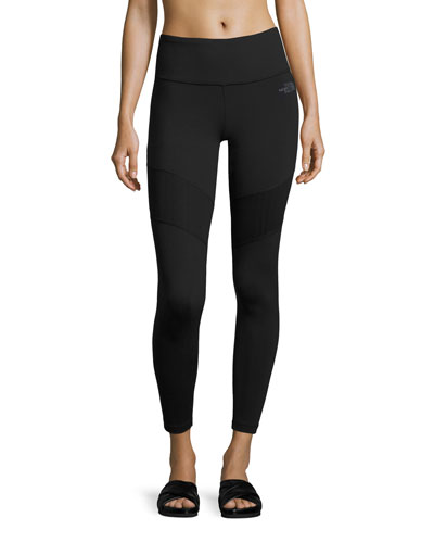 Motivation Mesh Performance Leggings, Black