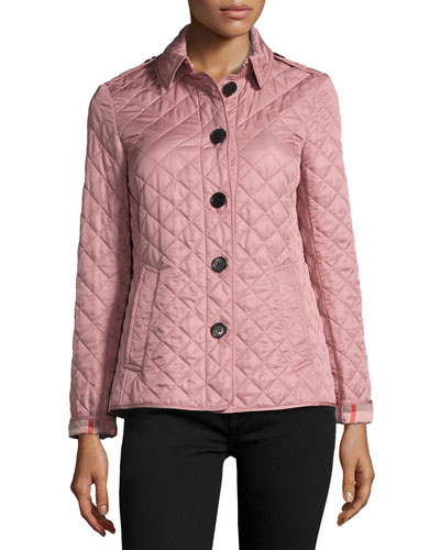 Ashurst Quilted Jacket, Pink