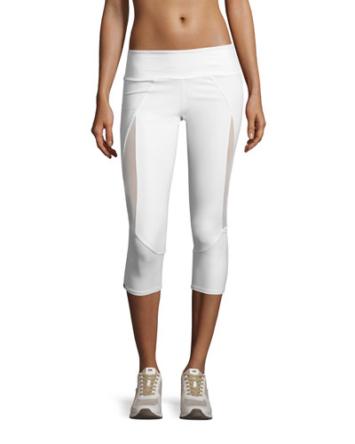 Splice Capri Sport Capri Leggings, White
