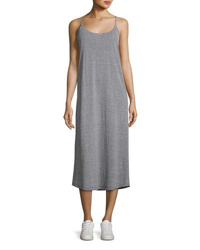 Asher Striped Linen Jersey Midi Dress
