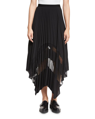 Plissé Point D'Esprit Handkerchief Skirt