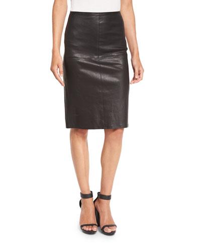 Black Leather Skirt | Neiman Marcus