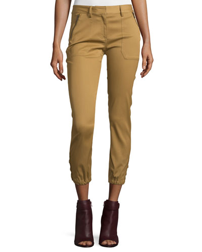 Dune Cropped Stretch-Cuff Cargo Pants