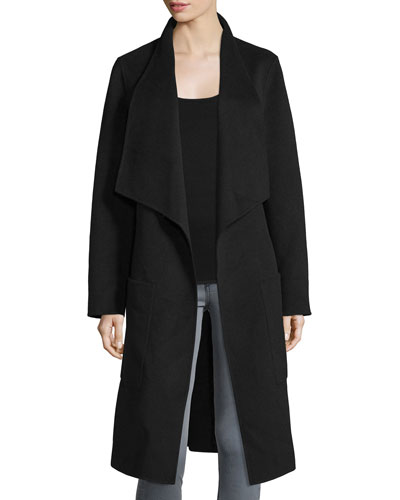 New Live Double-Face Wrap Jacket, Black