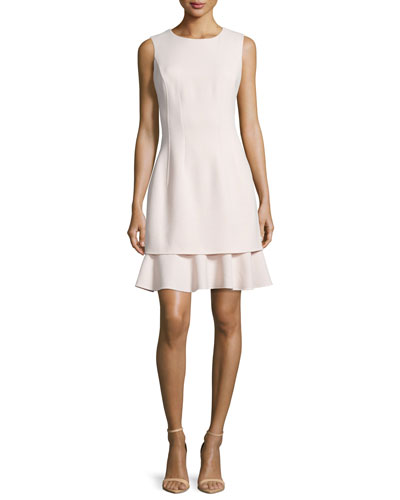 Layered-Skirt Sleeveless Dress