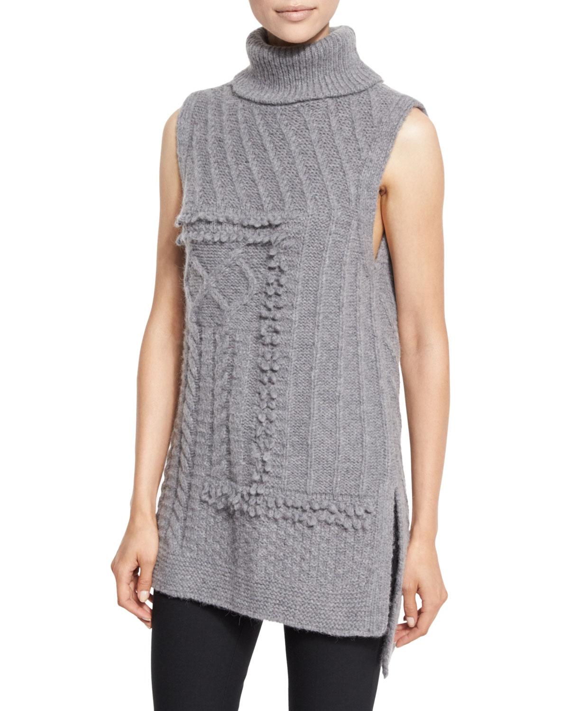 Sleeveless Oversized Turtleneck Sweater