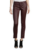 Leatherette Ankle Leggings
