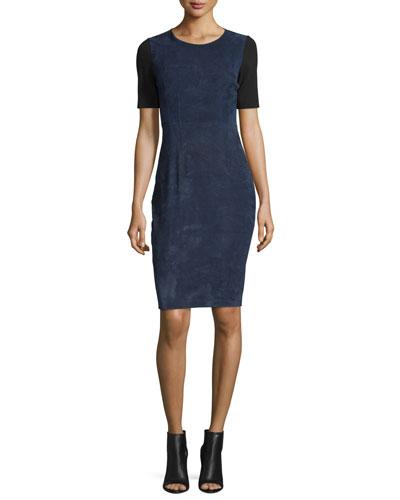 Emily Colorblock Combo Sheath Dress