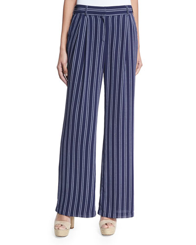 Imported Lightweight Wide Leg Pants | Neiman Marcus