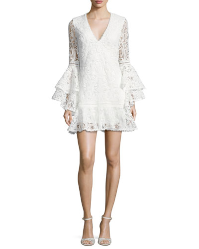 Veronique Lace Shift Dress, White
