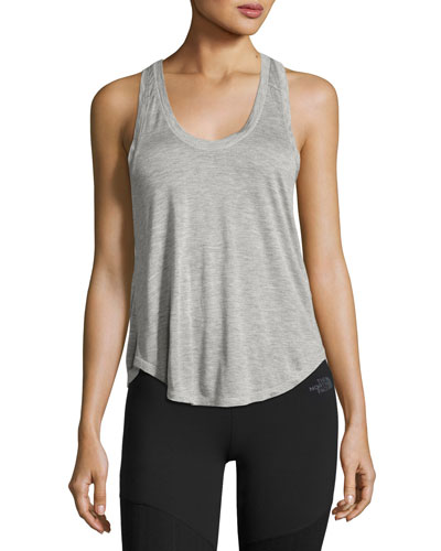 Versitas Jersey Crop Tank, Light Gray