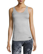 Motivation Striped Tank, TNF Black Heather