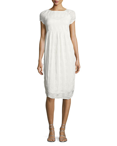 Marcella Embroidered Dress, Off White