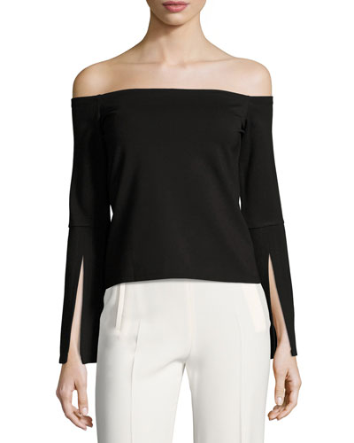 Iggy Off-the-Shoulder Knit Top