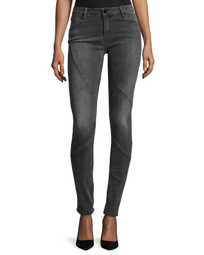 Puzzle Mid-Rise Skinny Jeans, Intemporel