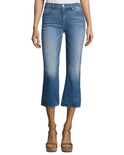 Cropped Boot Denim Jeans, Indigo