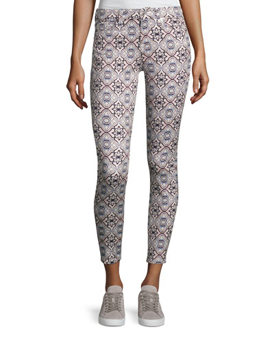 The Ankle Skinny Printed Jeans