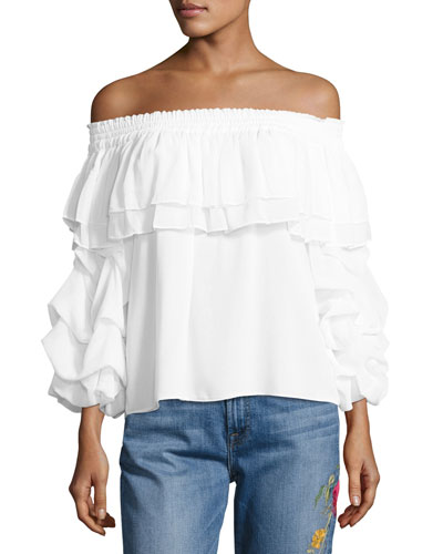 Elyse Off-the-Shoulder Ruffled Top