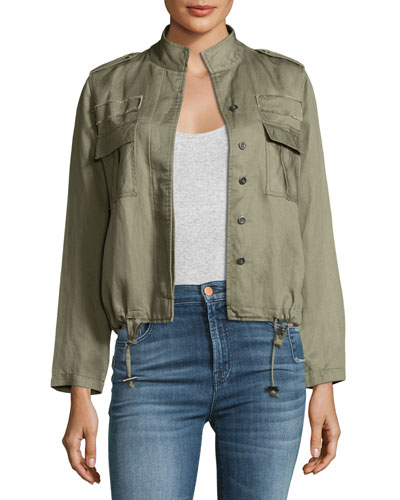 Maverick Twill Military Jacket, Sage