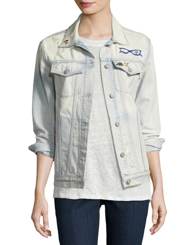 Knox St. Tropez Denim Jacket, Blue
