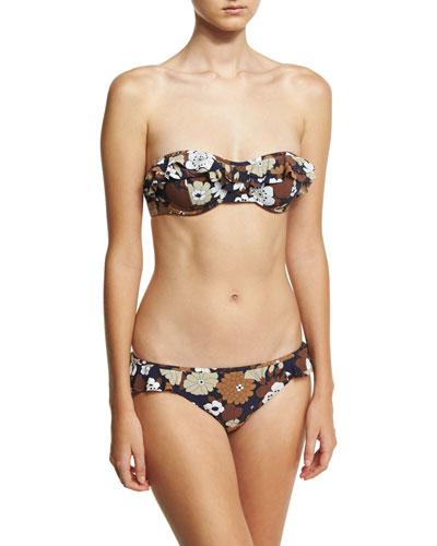 Ruffled Bandeau Two-Piece Bikini Set