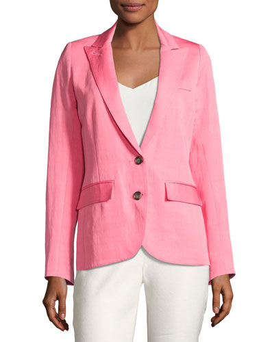 Boy Blazer w/ Two-Button Front, Pink