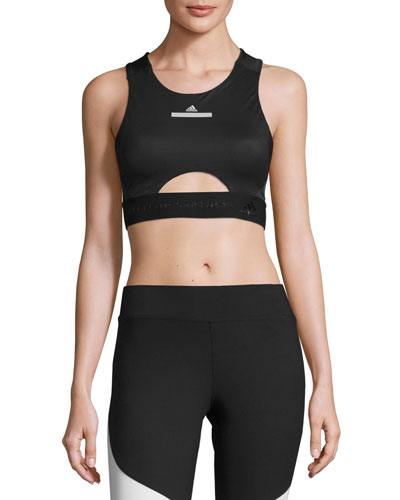 Run Performance Crop Top/Sports Bra, Black