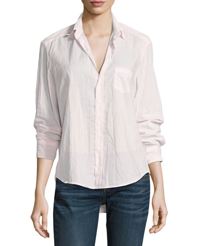 Eileen Button-Front Shirt, Light Pink