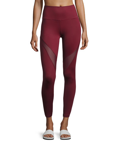 Varley Windsor Mesh-Panel Sport Leggings